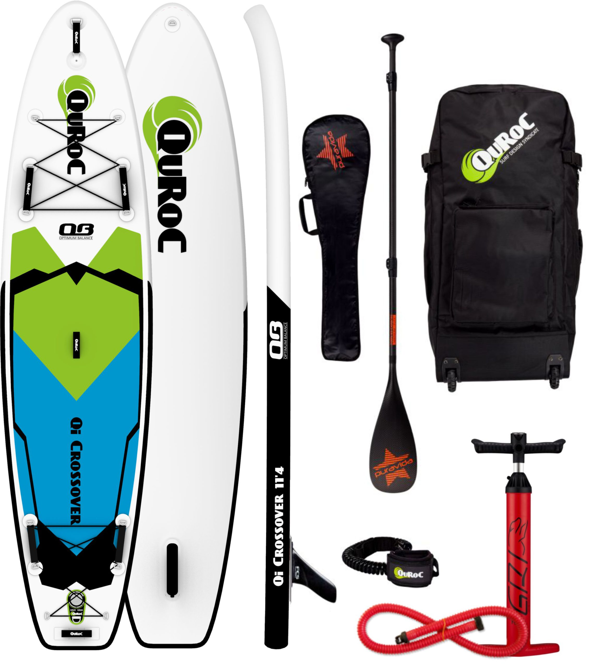 Quroc Crossover 11 4 Paddle Board Package